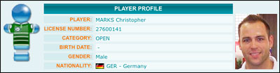 ITSF Player Profil Chris Marks